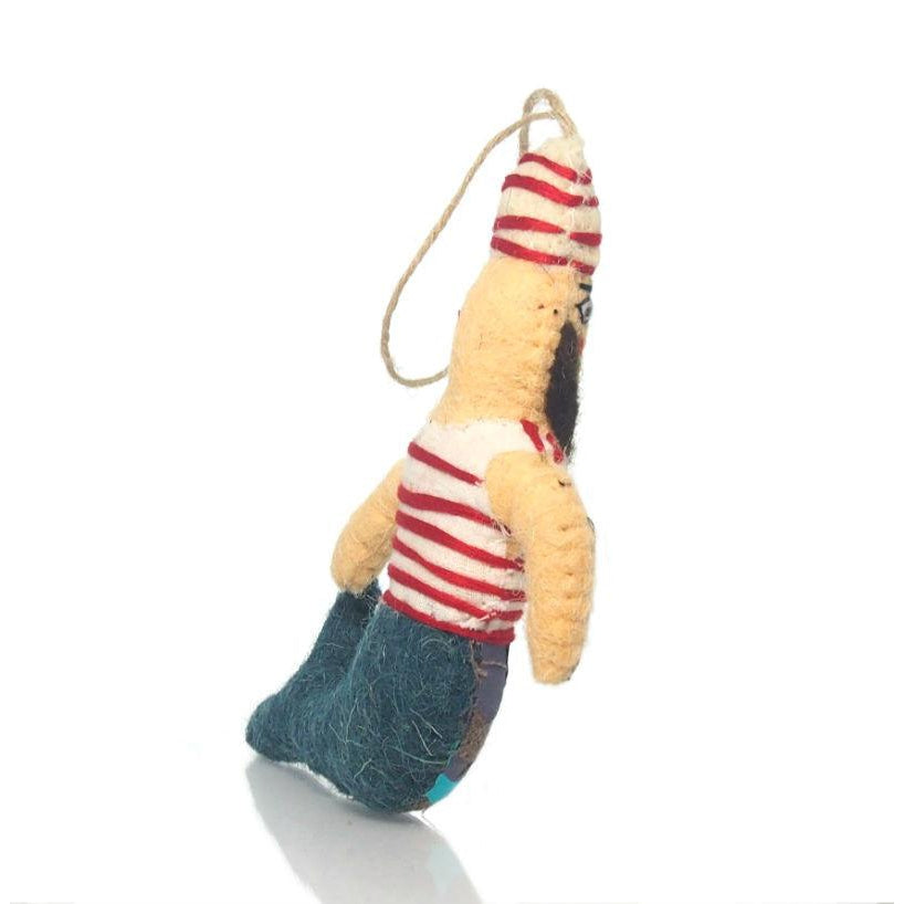Fabric Merman Ornament