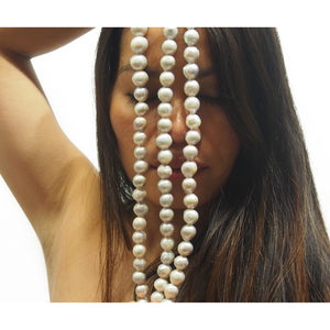 Fresh Water Pearl Round 13-14mm Strand