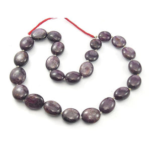 Ruby Star Smooth Oval Strand