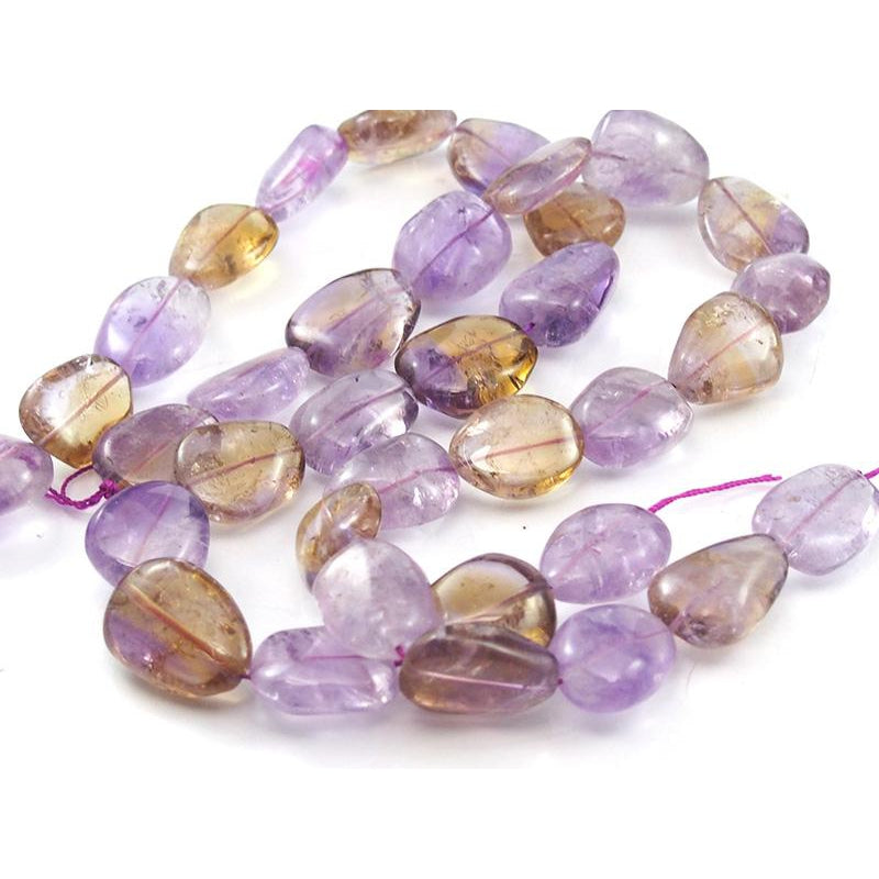 Ametrine Large Smooth Nugget Strand