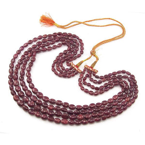 Ruby Smooth Oval Strand