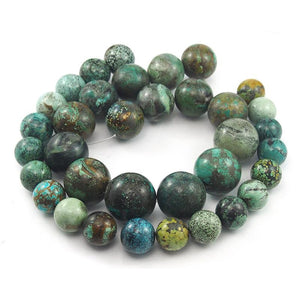 Natural Fine Turquoise XL Rounds Strand