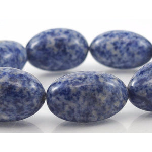 Spotted Sodalite Egg Shaped Strand