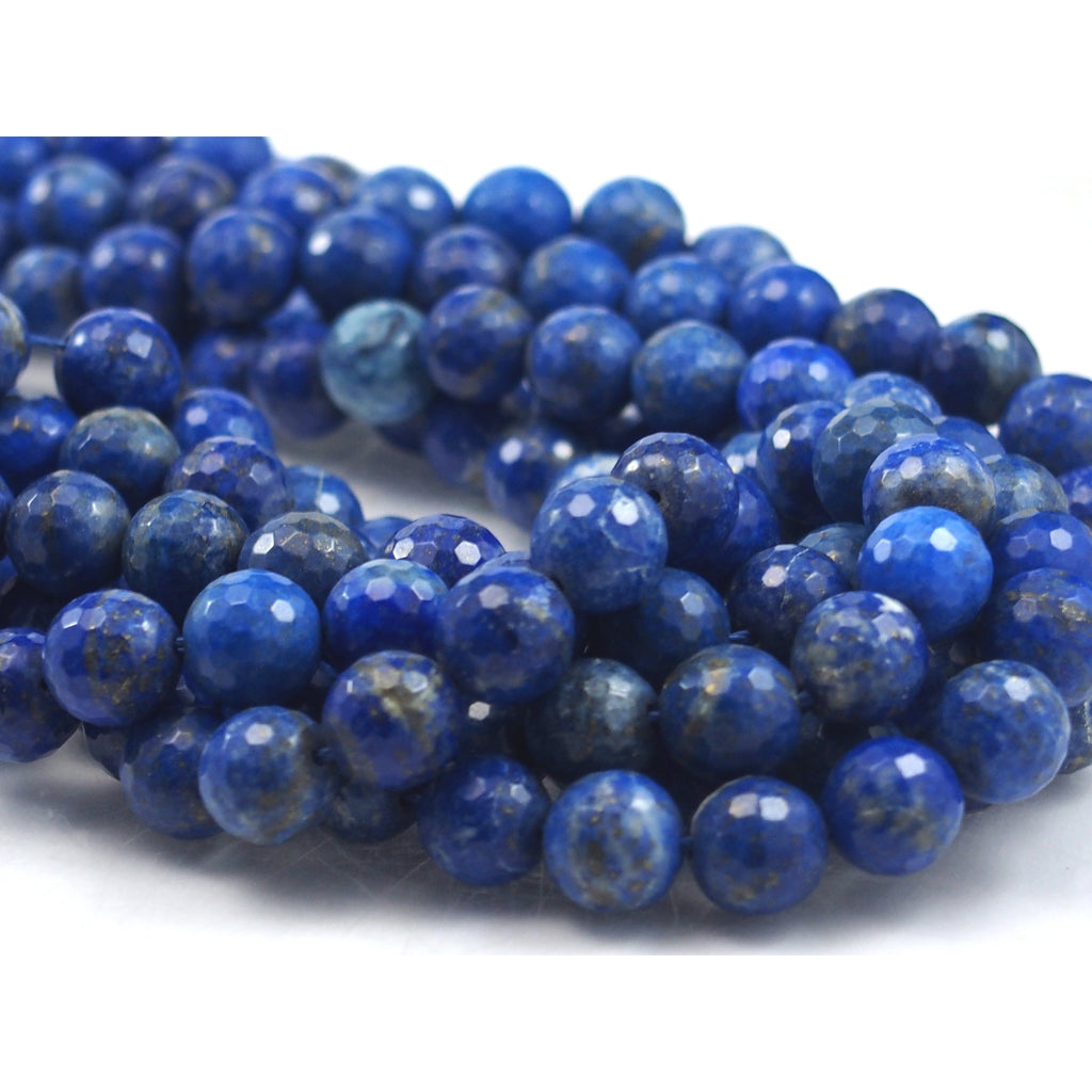 Lapis Lazuli Faceted Round 10mm Strand