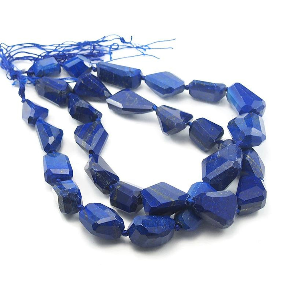Lapis Lazuli Graduated XL Faceted Nugget Strand