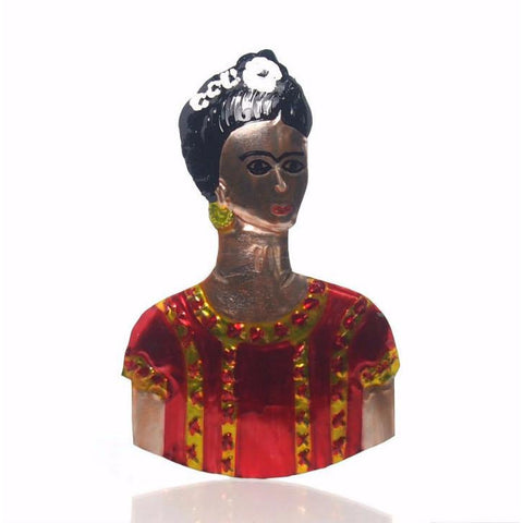 Frida Kahlo Tin Ornament, C