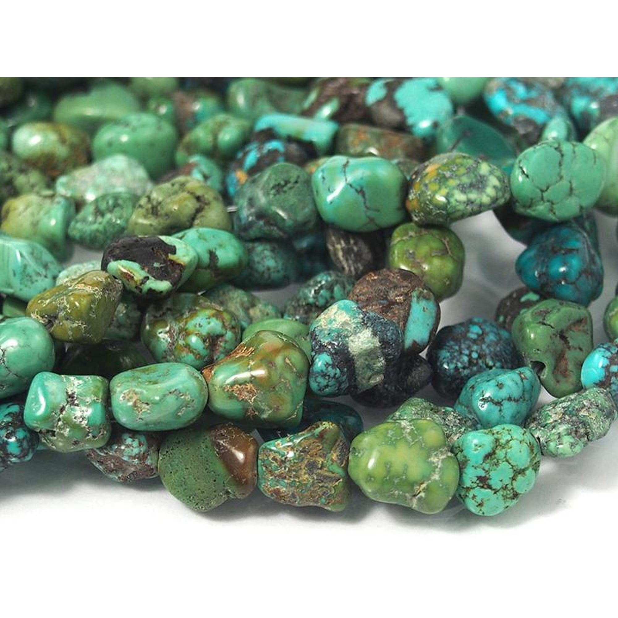 Chinese Turquoise Nugget Strand