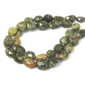 Green Garnet Faceted Nugget Strand