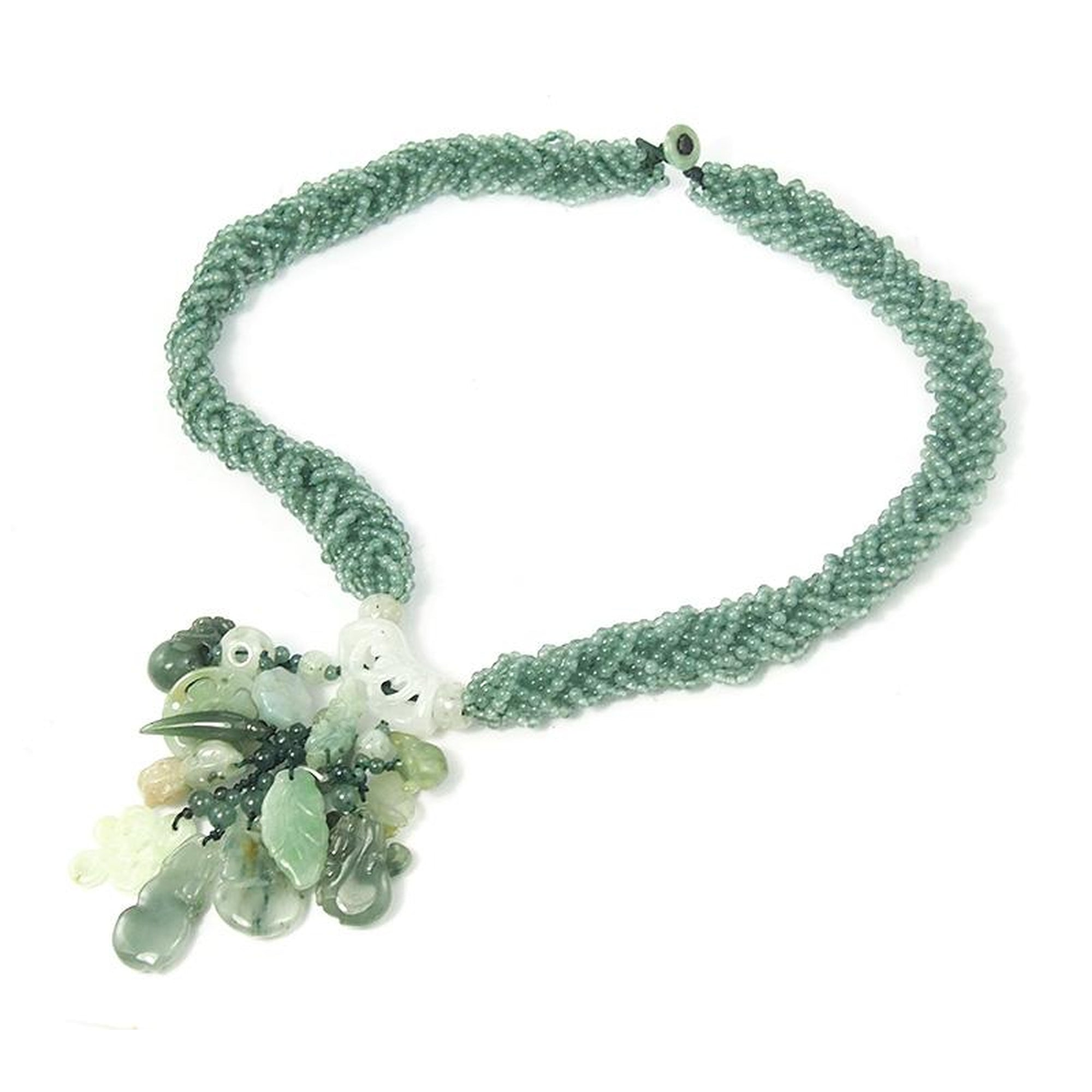 yoga bead zen jewelry mala tigers beads green om necklace p fullxfull jade charm il mantra eye