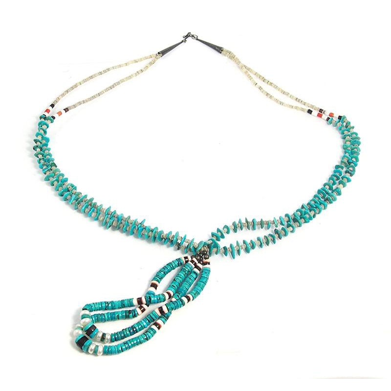 Native American Inspired Turquoise Necklace 2