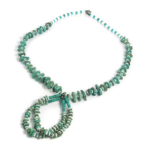 Native American Inspired Turquoise and Shell Necklace