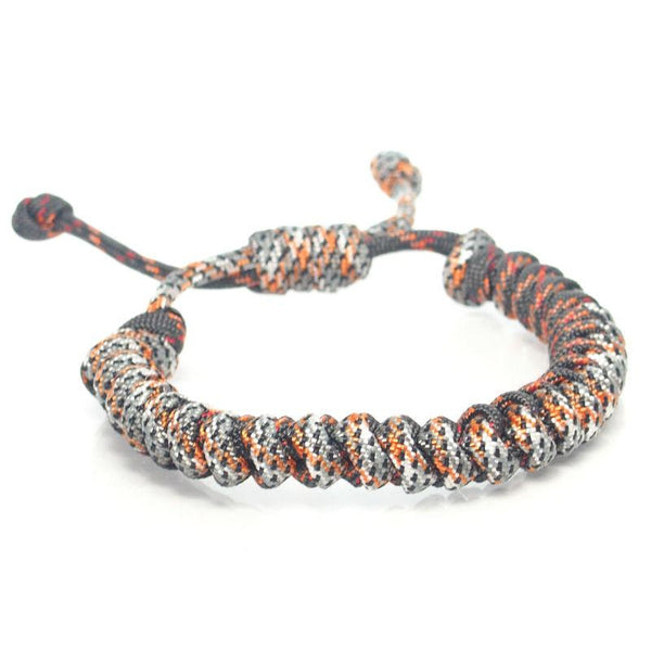 Nylon Parachute Cord Adjustable Bracelet Silver/Grey