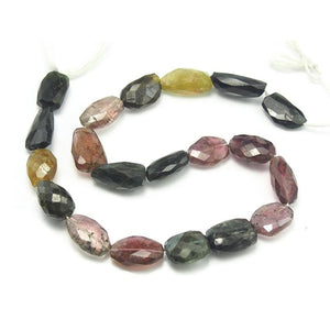 Multi-Colored Tourmaline Faceted Nugget Strand