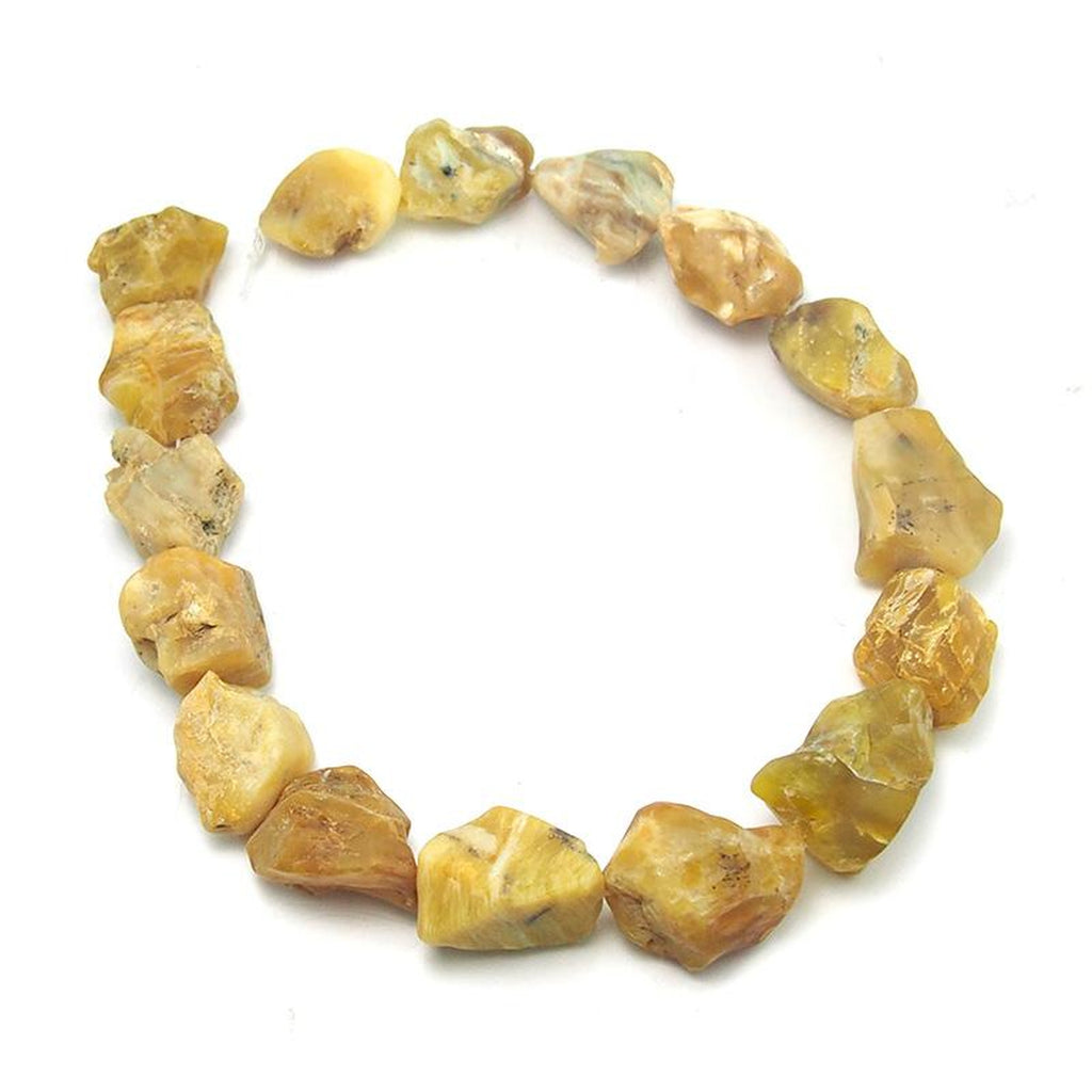 Rough Yellow Opal Chunk Strand