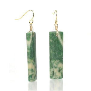 Green Mountain Jade Earrings with Gold Filled French Ear Wires