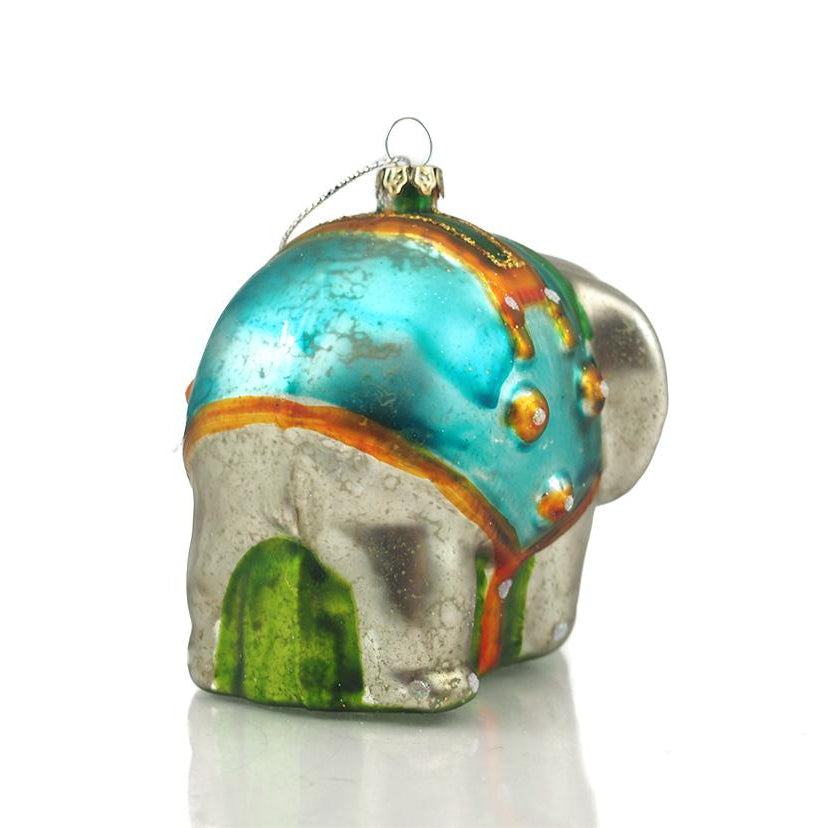 Elephant Glass Ornament Large