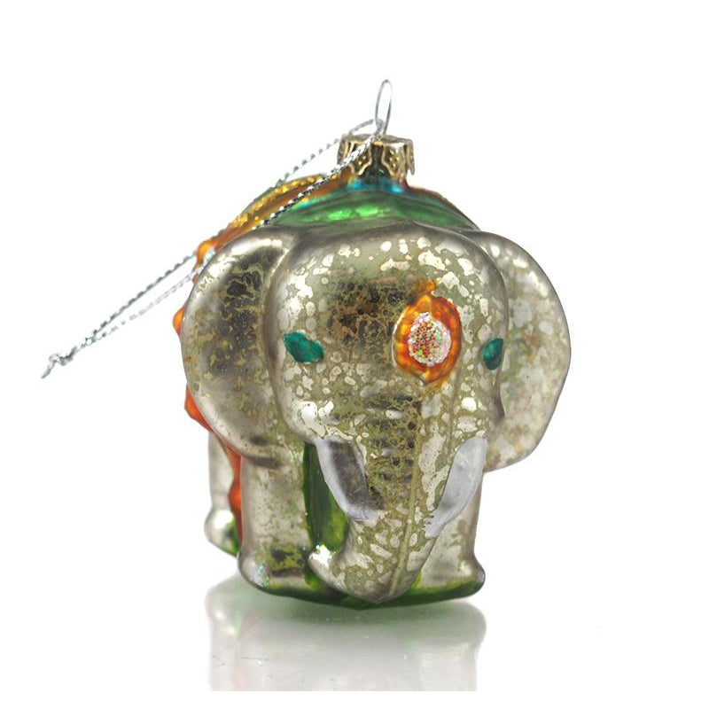 Elephant Glass Ornament Medium