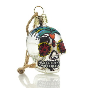 Small Day of the Dead Glass Ornament