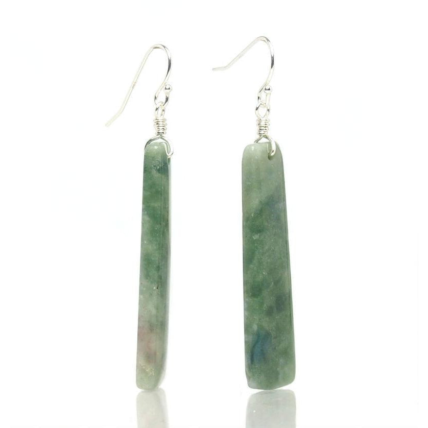 Jade Earrings with Sterling Silver Ear Wires
