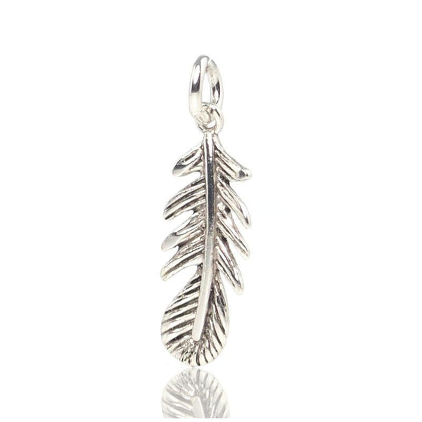 Sterling Silver Little Feather Pendant