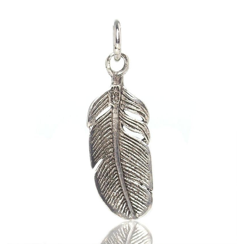 Sterling Silver Billowy Feather Pendant