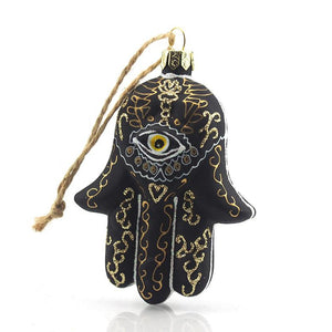 Hand of Fatima/Hamsa Glass Ornament, B