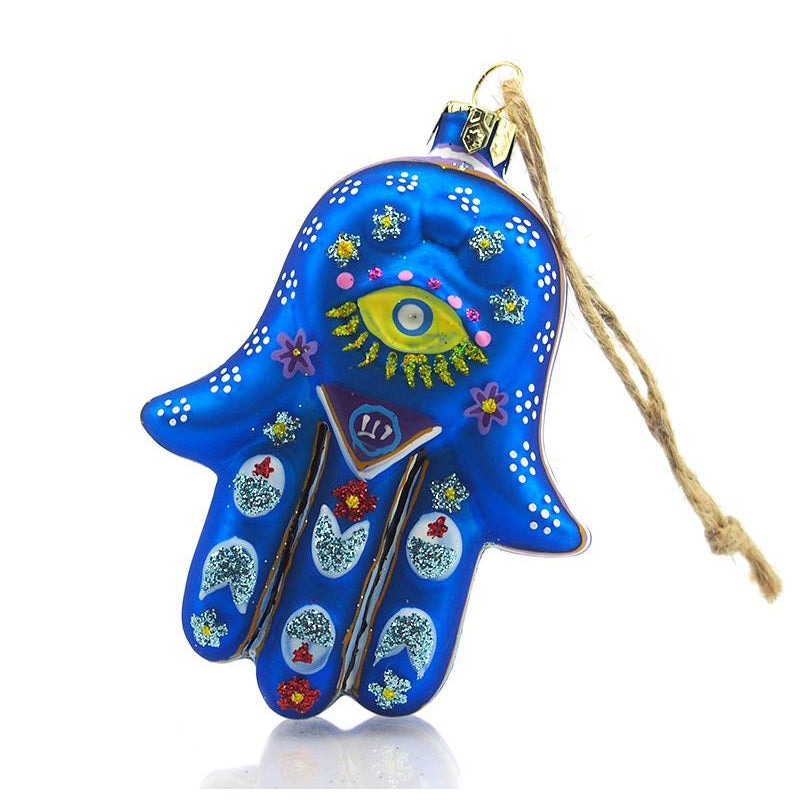 Hand of Fatima/Hamsa Glass Ornament, C