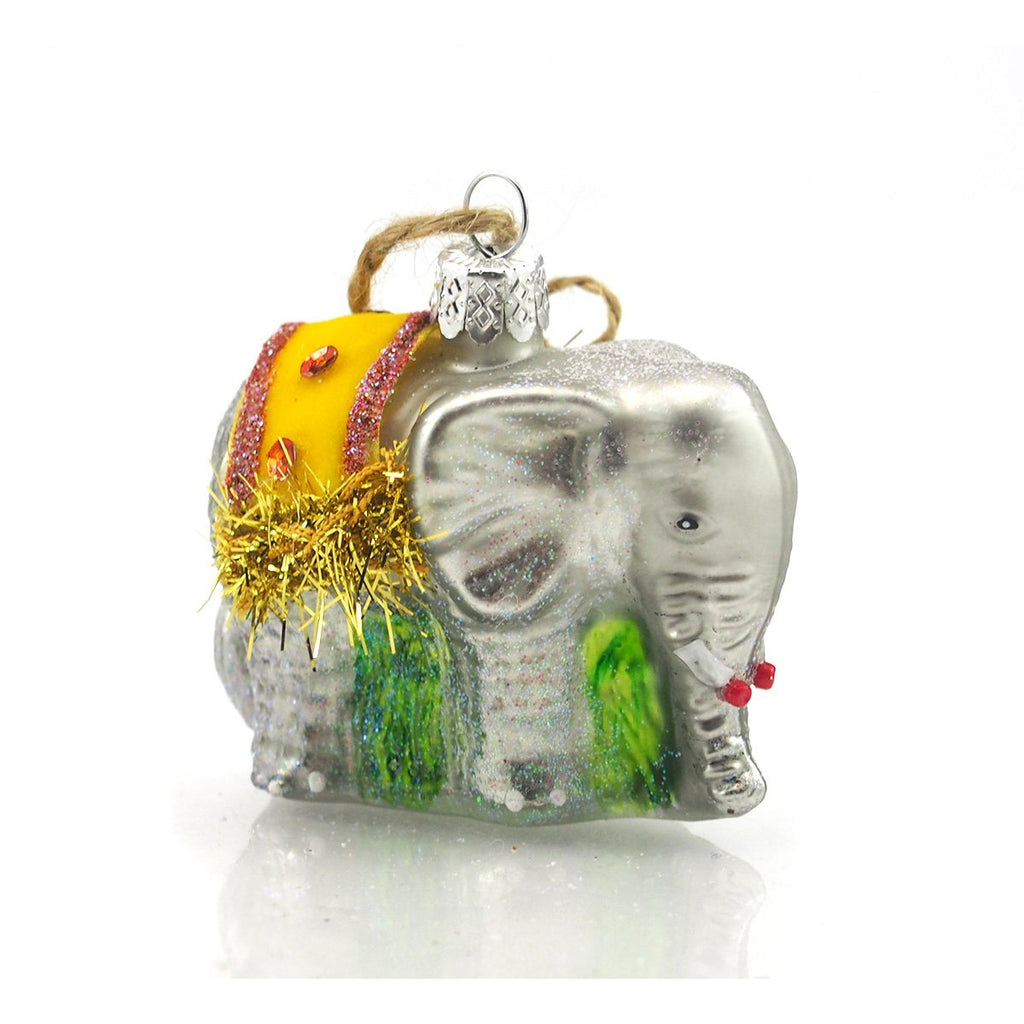 Elephant Glass Ornament Small