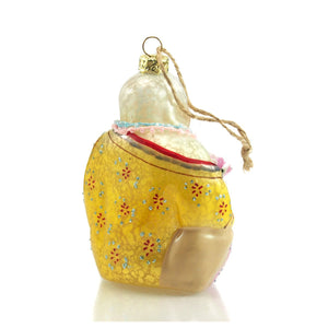 Happy Buddha Glass Ornament
