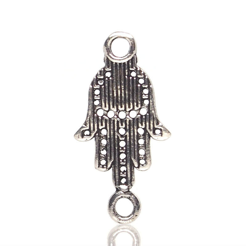 Sterling Silver Hamsa Ball Connector