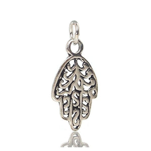 Sterling Silver Hamsa Flowering Pendant