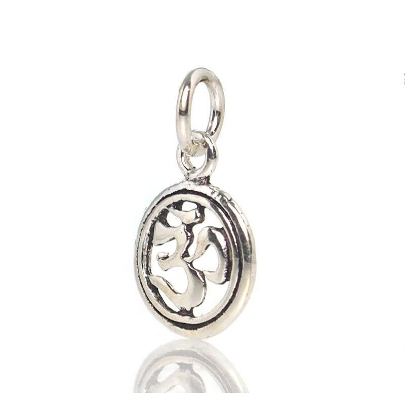 Sterling Silver Tiny Om Pendant/Charm
