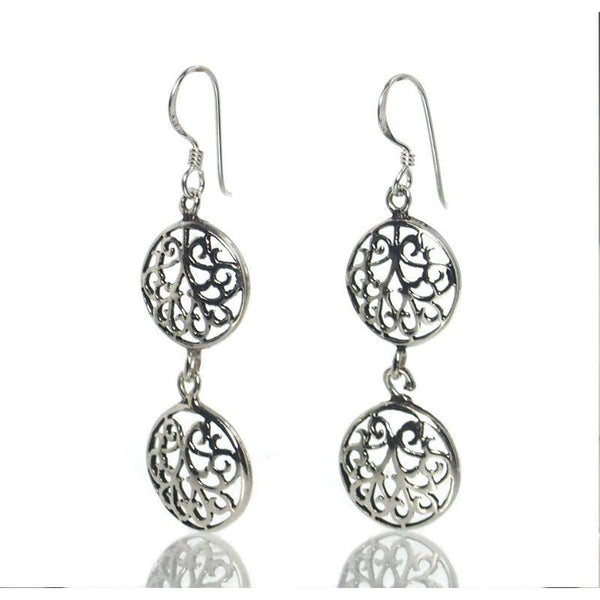 Double Filigree Celtic Earrings