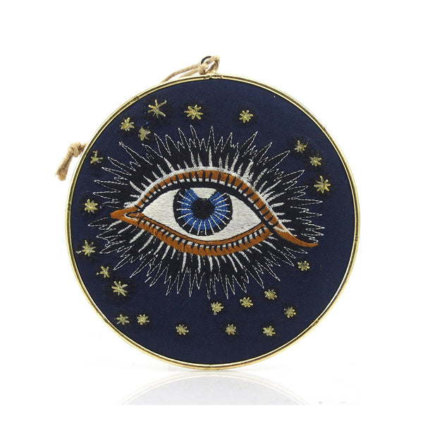 Eye Fabric on Metal Ornament/Wall Hanging
