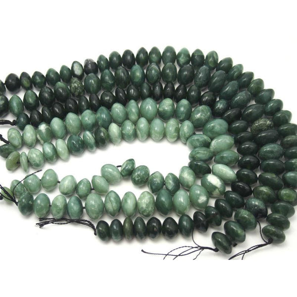 Afghanistan Serpentine/ Bowenite Disc/ Saucer Shape Beads