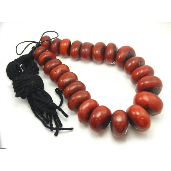 "Berber Cast Resin ""Amber"" Dowry Necklace XL Size Cognac Color"