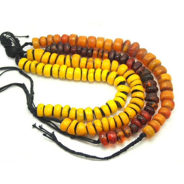 "Berber Cast Resin ""Amber"" Dowry Necklaces Small Size"