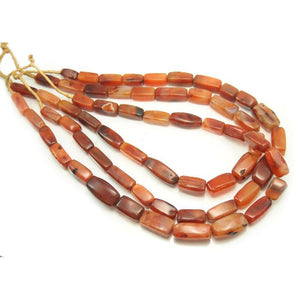 Carnelian Natural Beads ca 1900 from India used by Fulani People in Nigeria