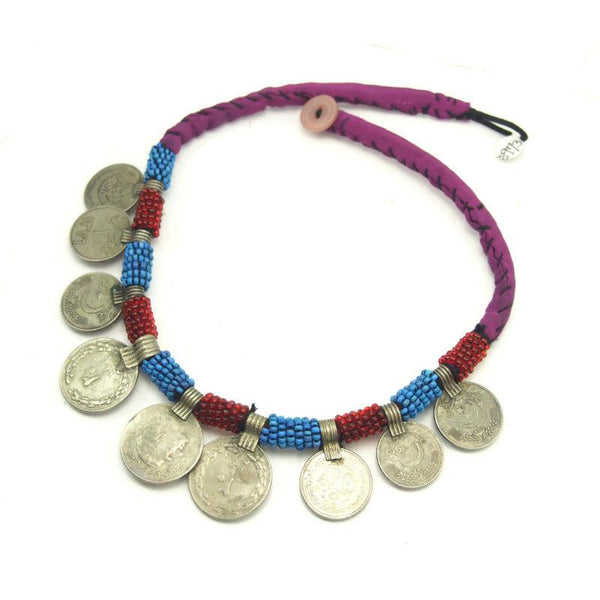Pashtun Vintage Coin Dowry Necklace from Afghanistan 2