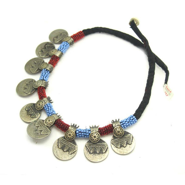 Pashtun Vintage Coin Dowry Necklace from Afghanistan 3