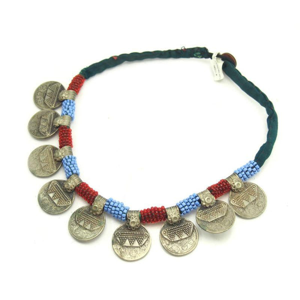 Pashtun Vintage Coin Dowry Necklace from Afghanistan 1