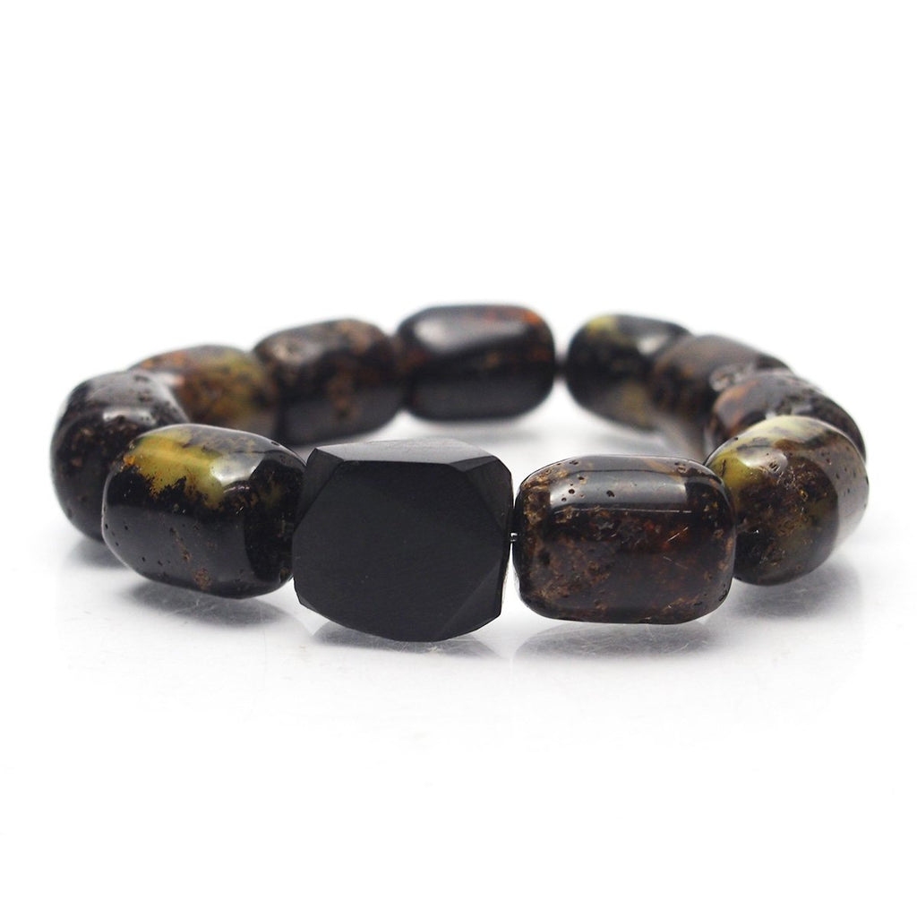 Amber Log Stretch Bracelet