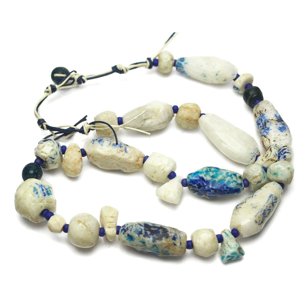 Antique Persian Quartz/Faience Bead Necklace