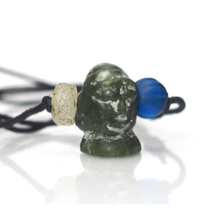Bowenite Jade Monk's Head, B