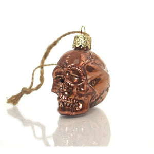 Glass Skull Ornament, Medium