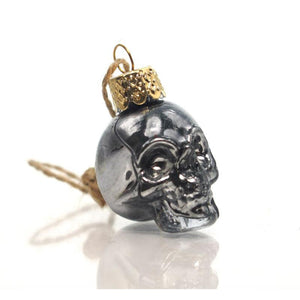 Glass Skull Ornament, Small