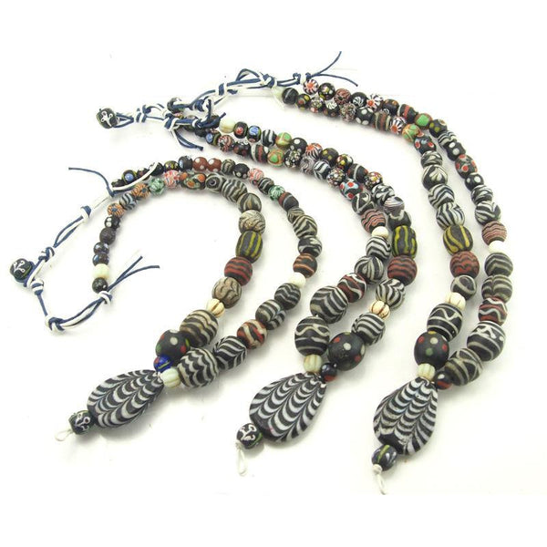 Contemporary Java, Indonesia Hand Cast Powder Glass Beads Based on Ancient Persian Heirloom Glass Beads