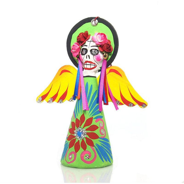 Paper Mache Angel Catrina Ornament
