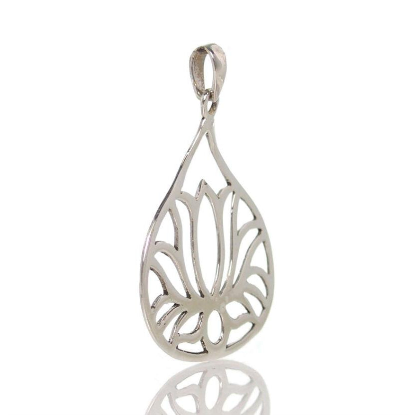 Sterling Silver Lotus Blossom Pendant