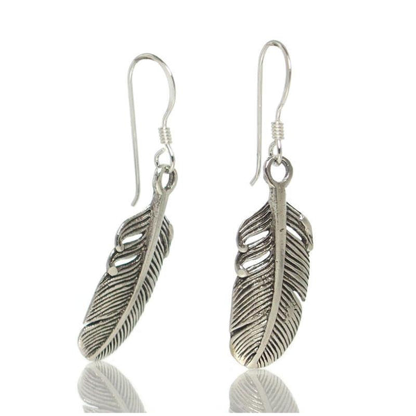 Sterling Silver Mini Feather Earrings